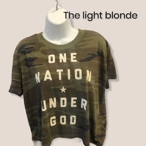 The light blonde • Camo Crop Top• NWT